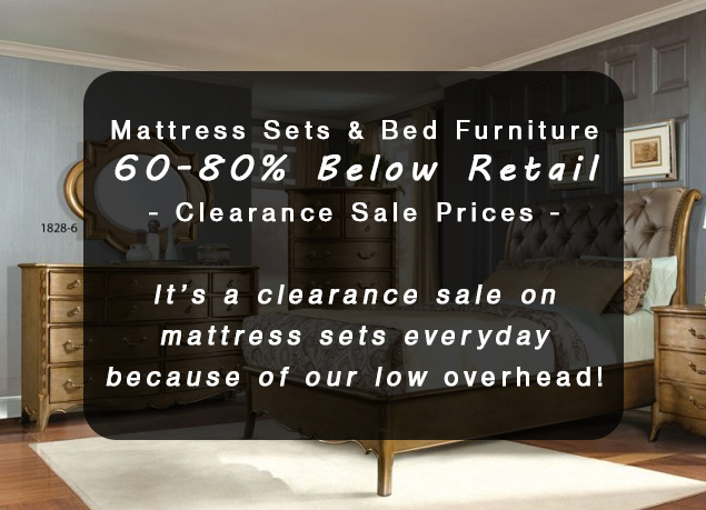 Mattress Sets U0026 Bed Furniture At 60 80% Below Retail U2013 Warehouse Clearance  Sale Prices!