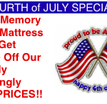 July Memory Foam Mattress Set Special