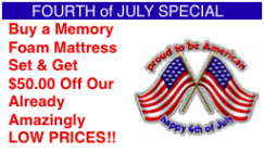 50.00 off memory foam mattress